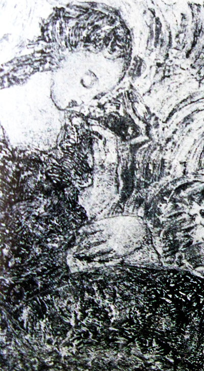 Софія Зарицька. Жіноча композиція, 1950-ті; монотипія