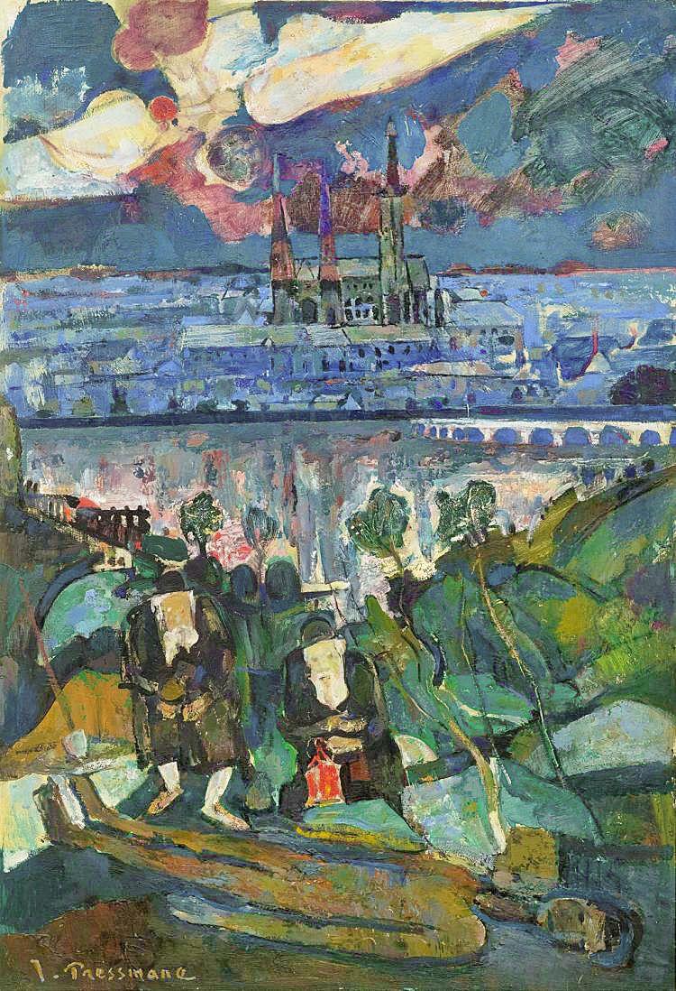 Жозеф Прессман. Голубий місяць, 1933; олія, полотно
