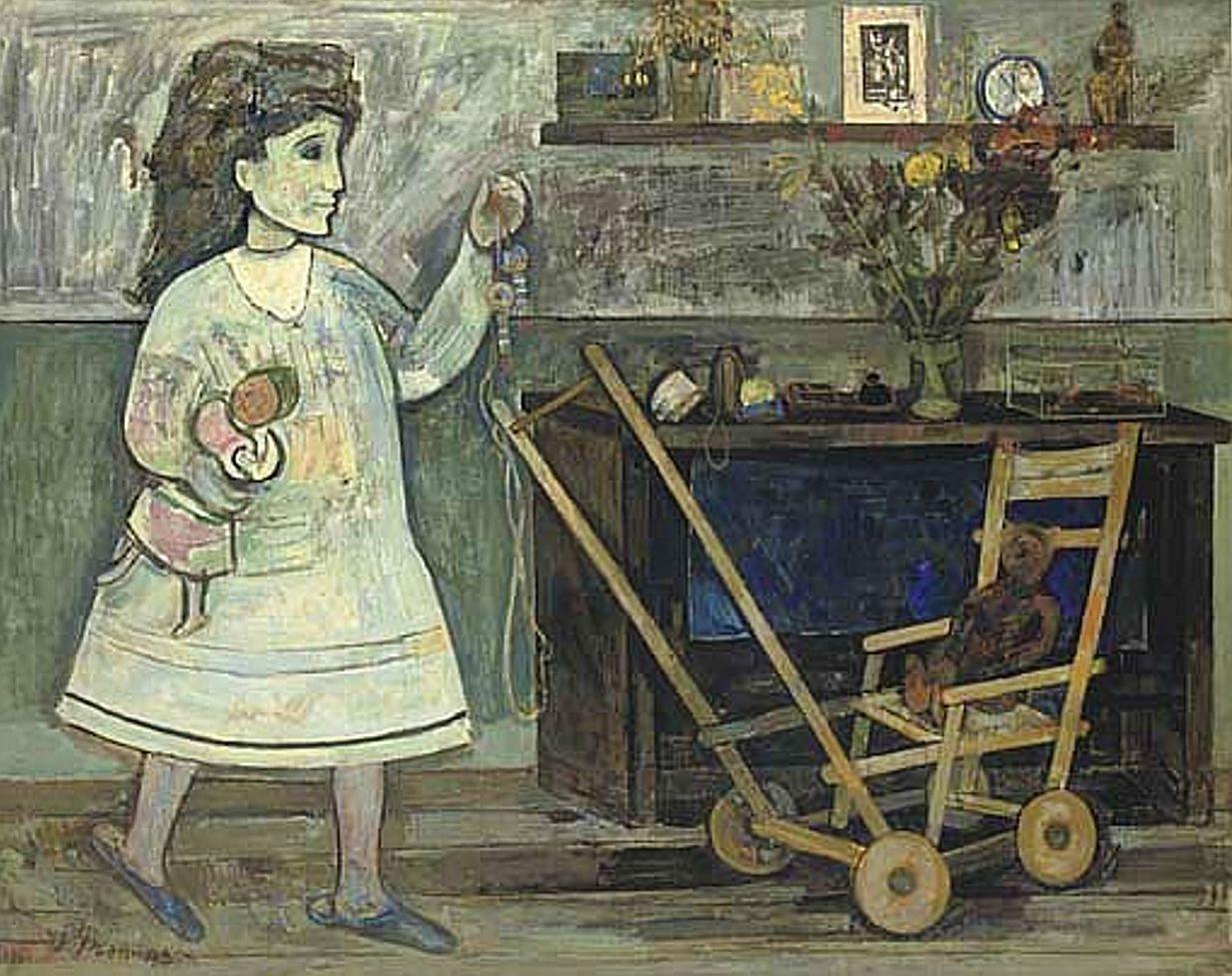 Жозеф Прессман. Орелі з візочком, 1951; олія, полотно