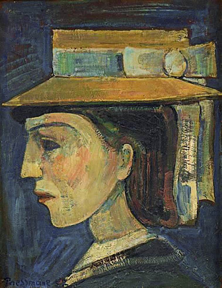 Жозеф Прессман. Жінка в капелюсі, 1952