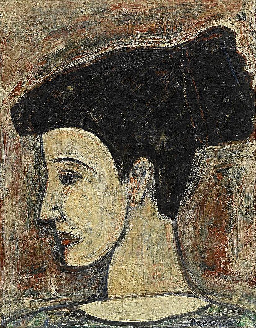 Жозеф Прессман. Жіночий профіль; олія, полотно