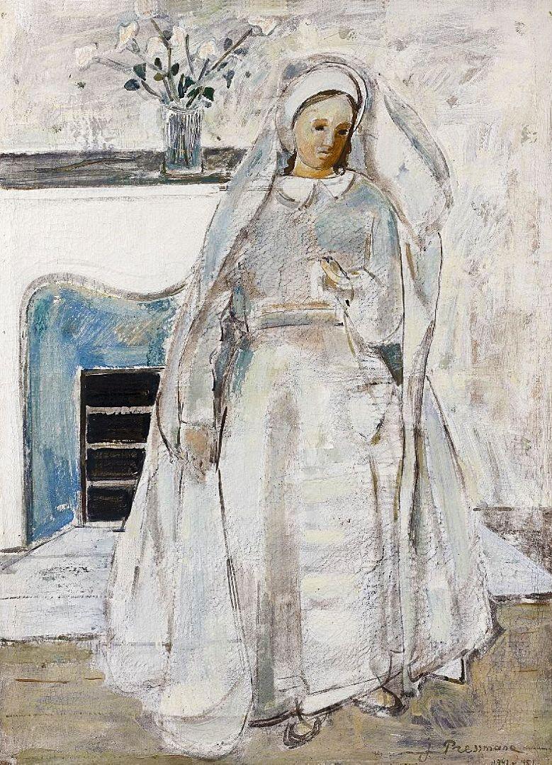 Жозеф Прессман. Жінка з листом, 1942,1951; олія, полотно