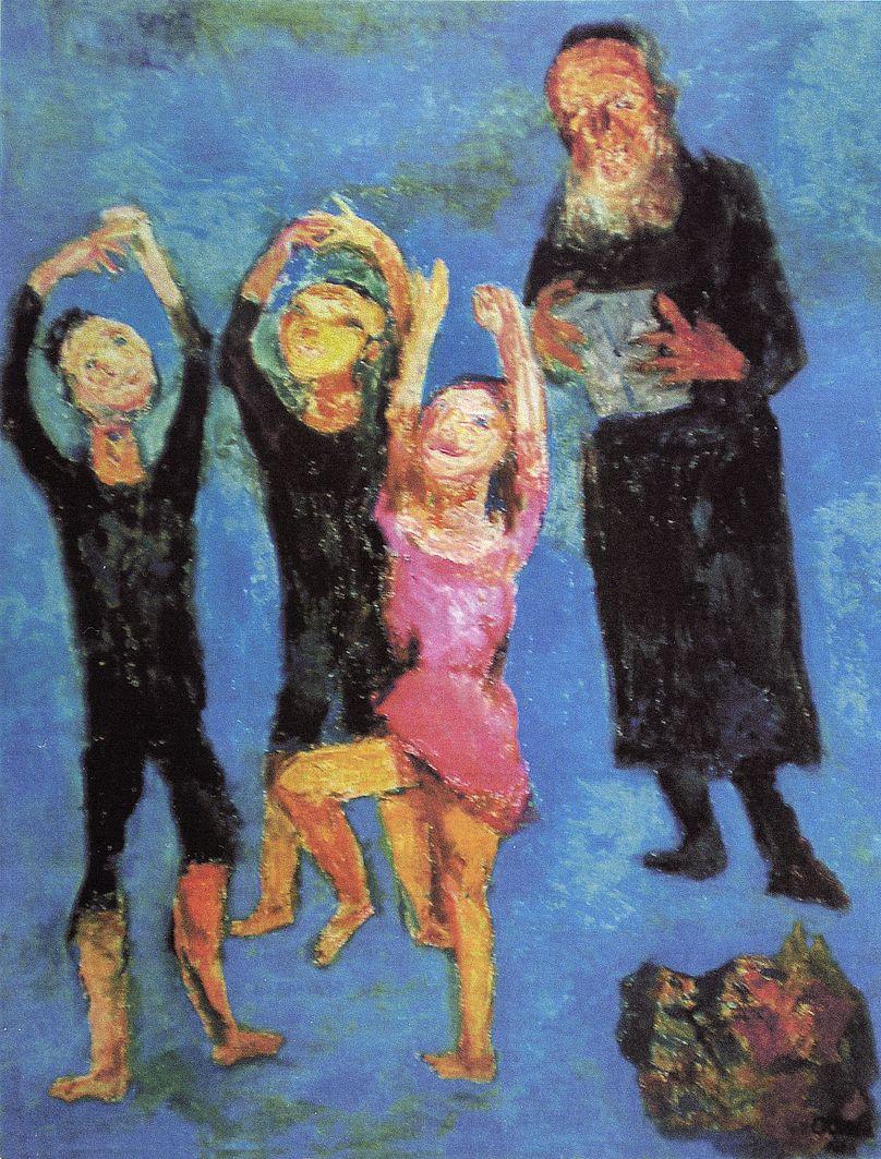 Отто Аксер. Євреї, що танцюють, 1950