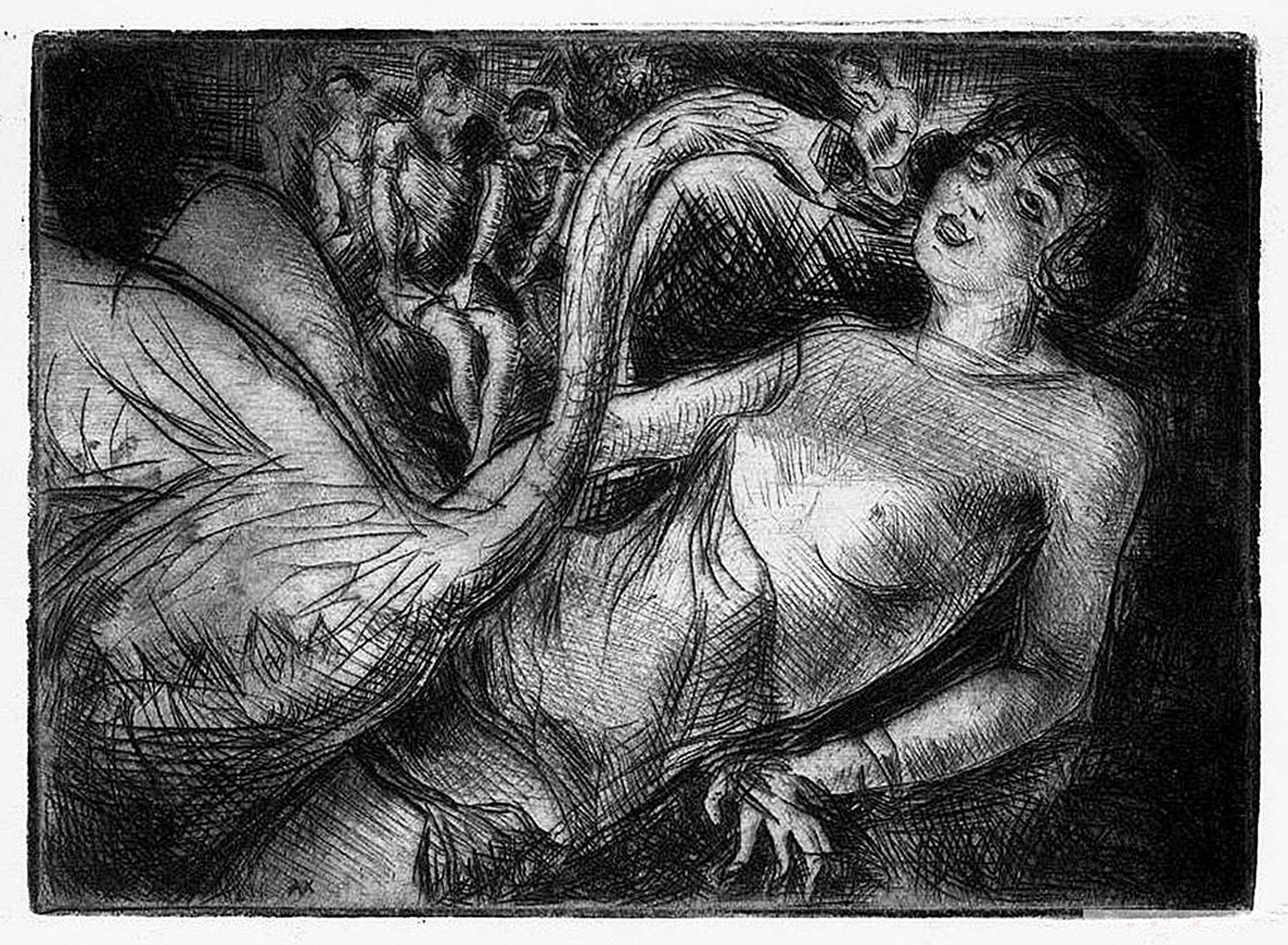 Отто Аксер. Леда, 1927, офорт