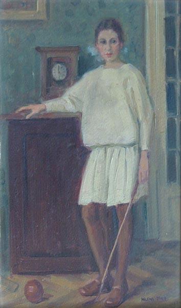 Гелена Ланг. Дівчина в білій сукні