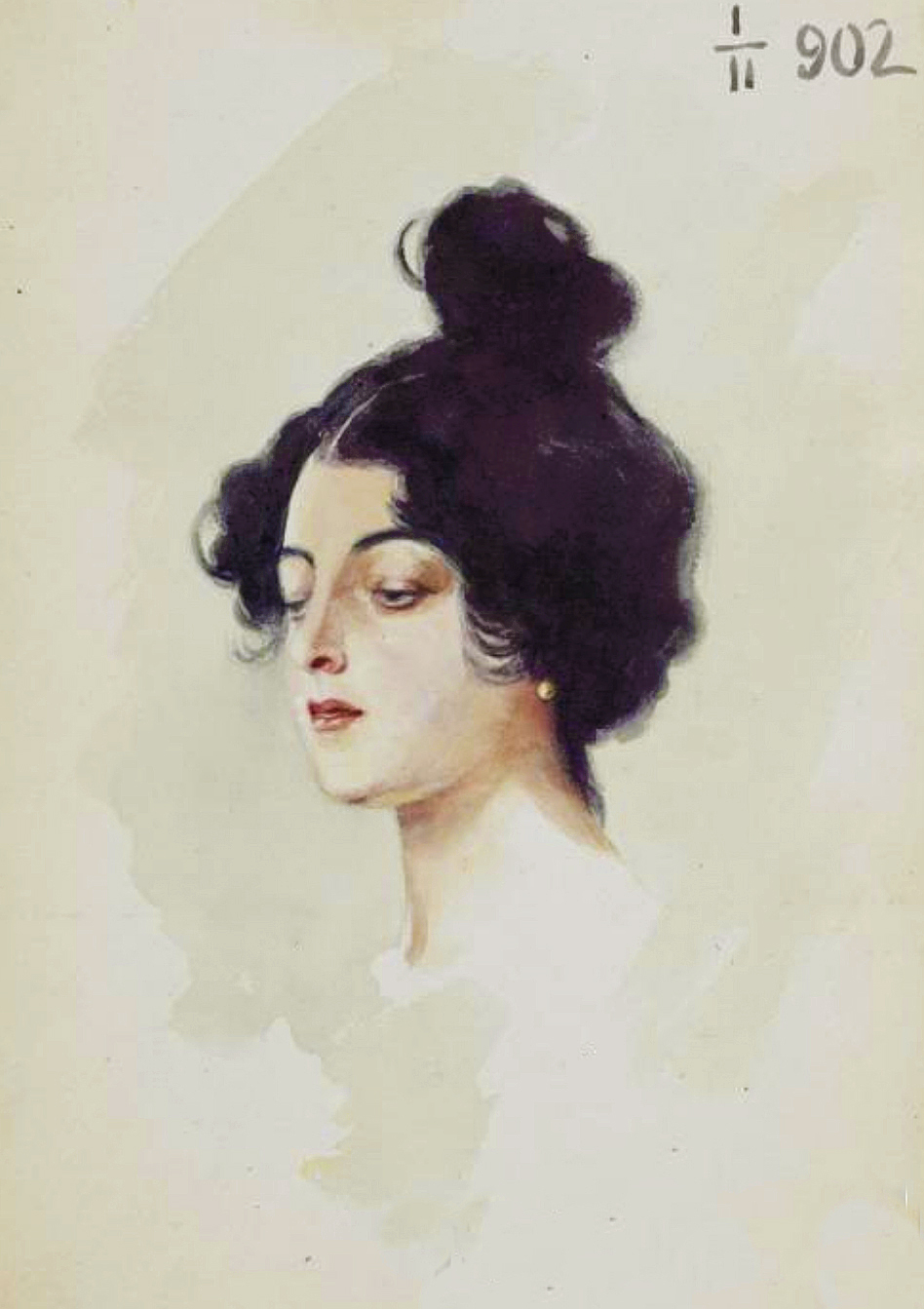 Гелена Ланг. Етюд голови, 1902