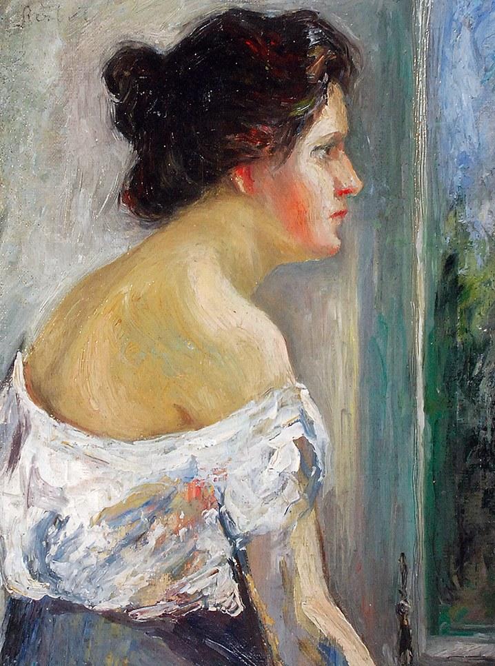 Марія Гіжберт-Студницька. Дівчина біля вікна