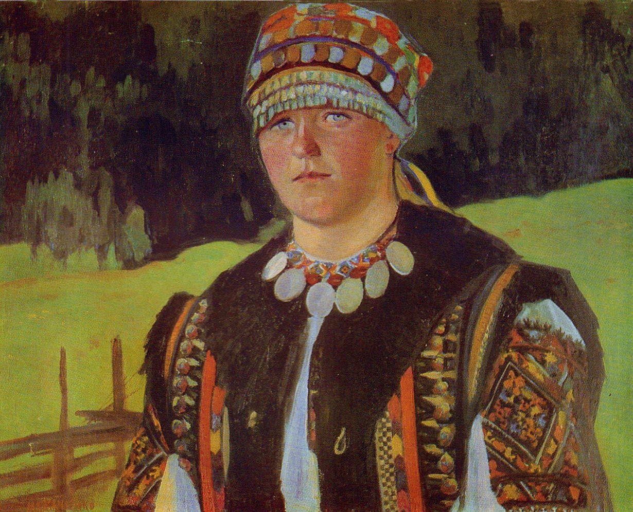 Михайло Ткаченко. Гуцулка Марічка, 1959; олія, полотно