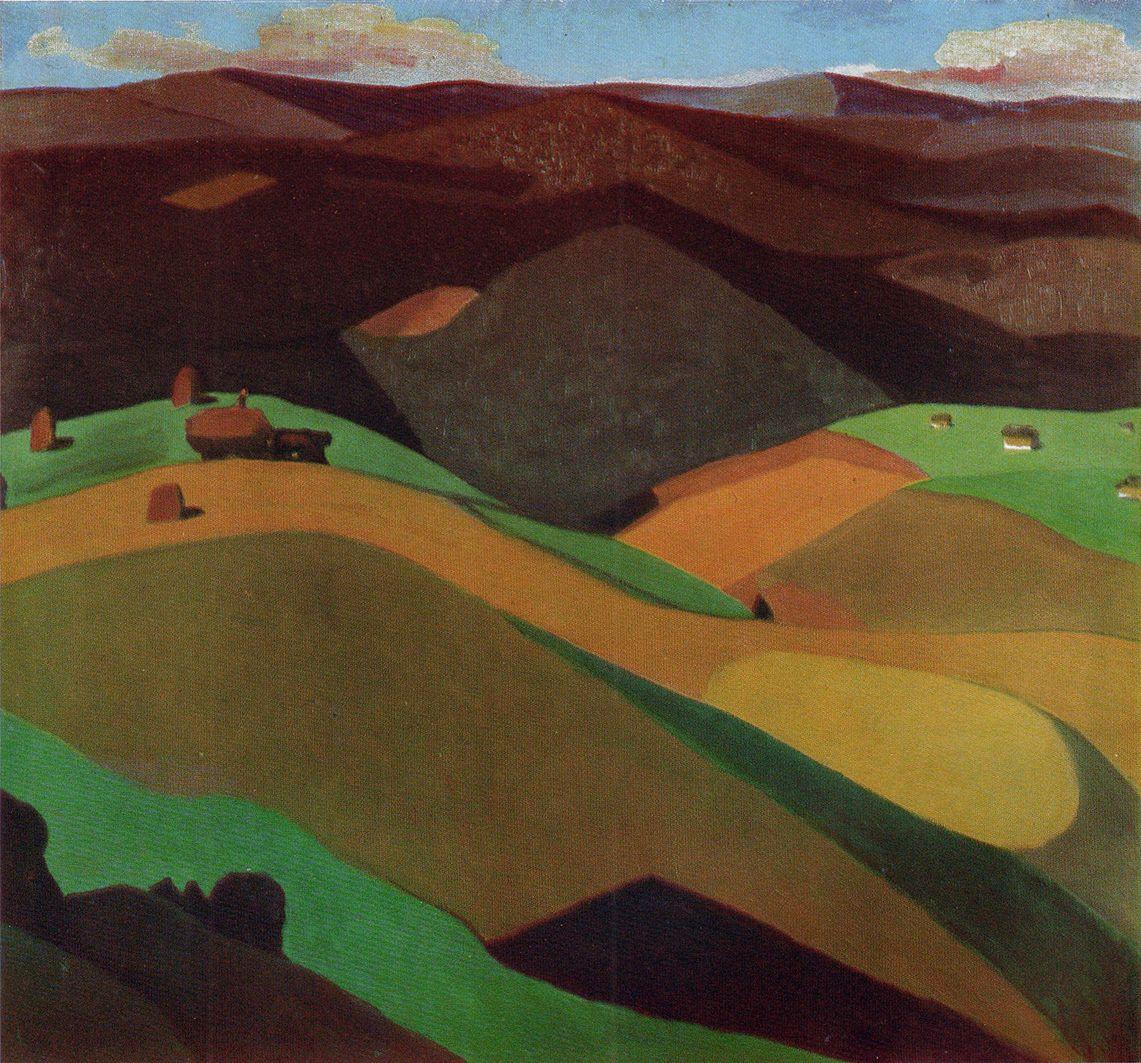 Михайло Ткаченко. На Верховині, 1969; картон, олія