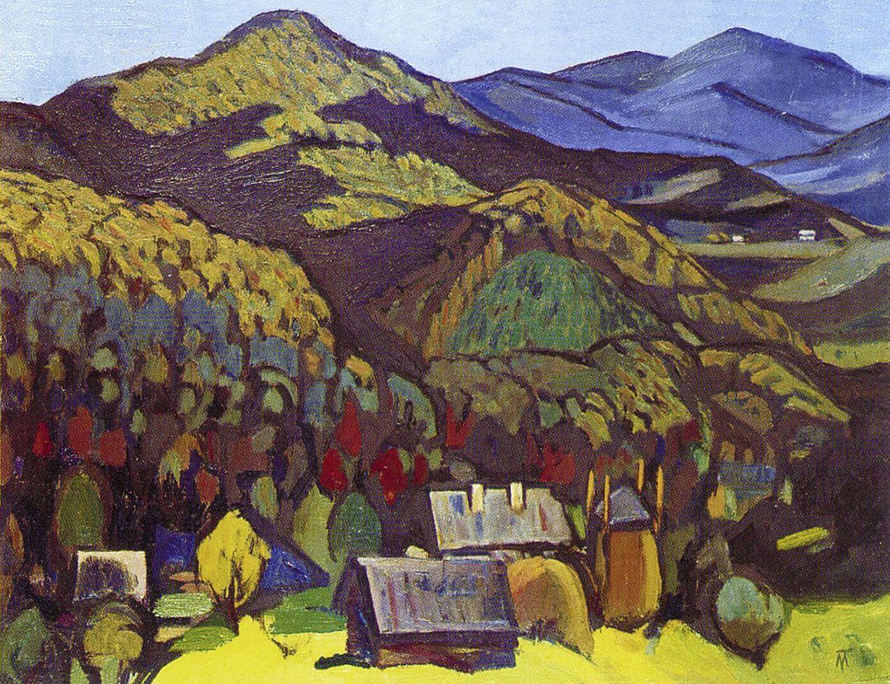 Михайло Ткаченко. Осінь в Карпатах, 1994; олія, полотно