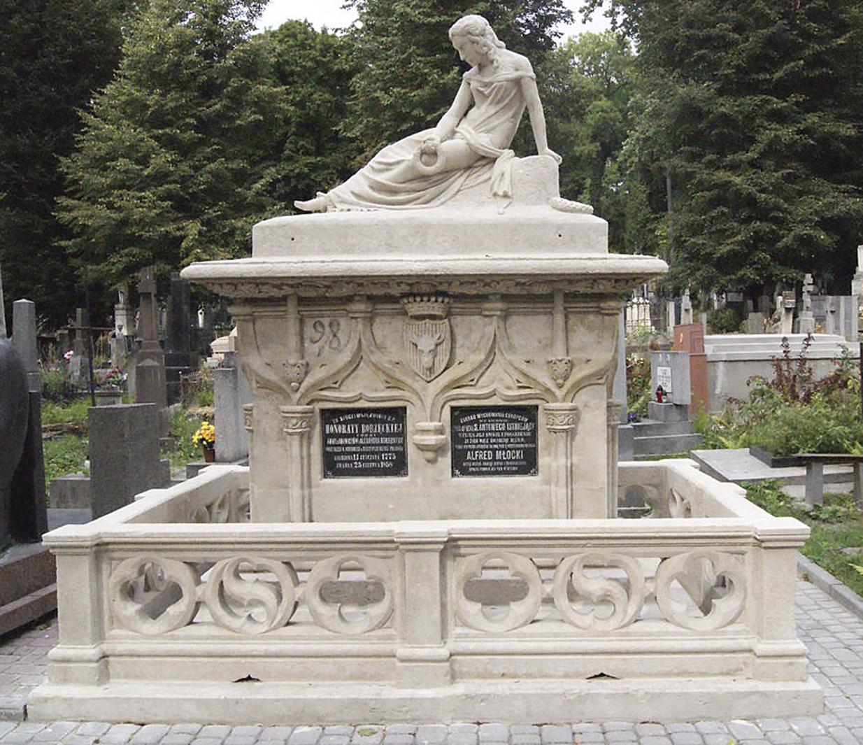 Ципріан Годебський. Нагробок Г. Боженцької, 1859; пісковик, Личаків Львів