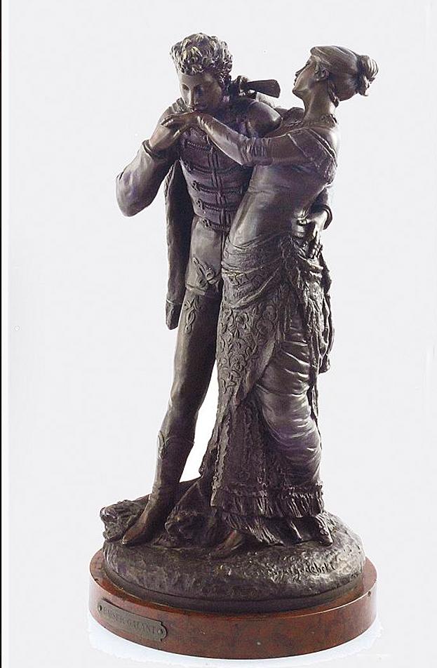 Ципріан Годебський. Галантний поцілунок; бронза, h-46