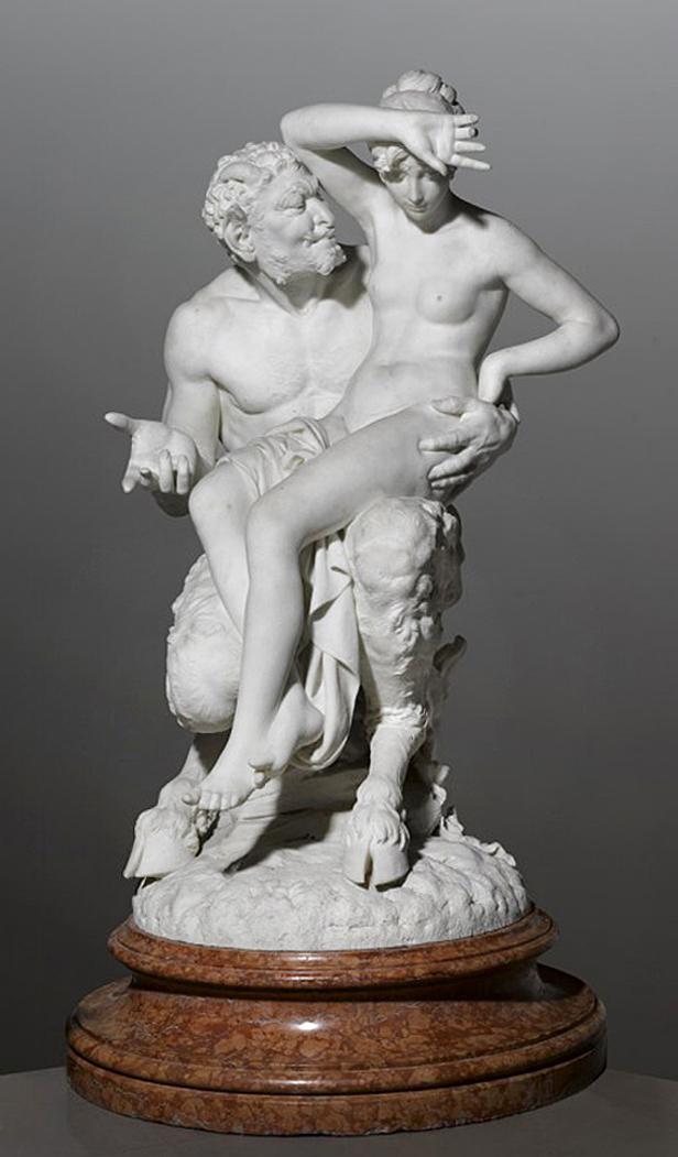 Ципріан Годебський. Спокуса, 1881; мармур