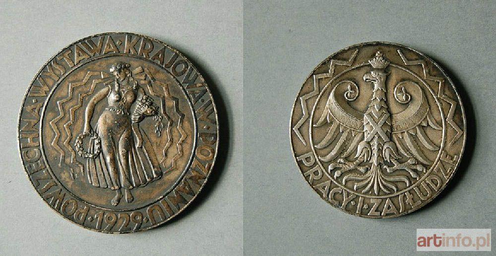Казимира Малачинська-Пайздерська. Медаль загальнонаціональної виставки в Познані, 1929