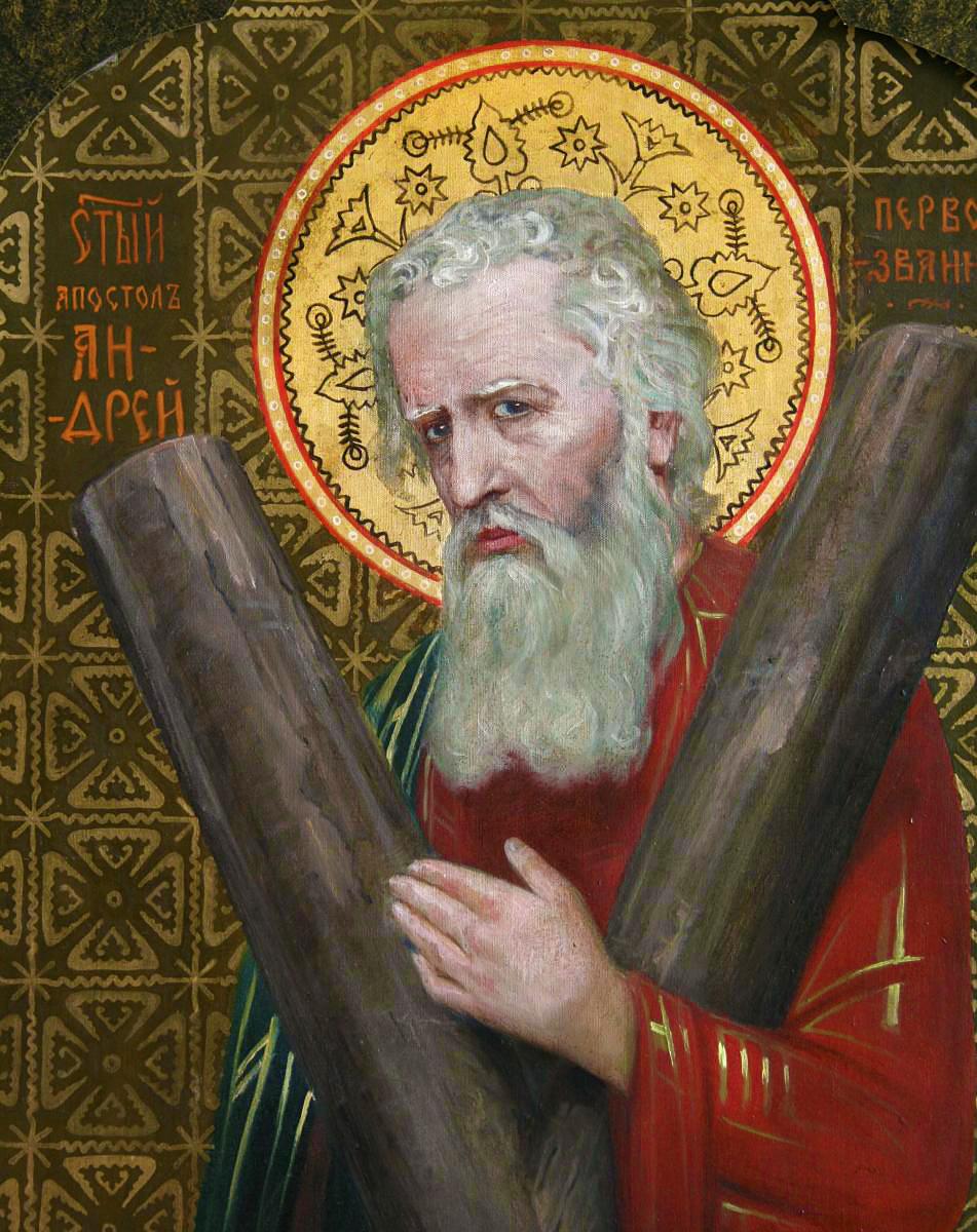 Модест Сосенко. Апостол Андрій (митрополит Шептицький), 1913; фреска, НМЛ