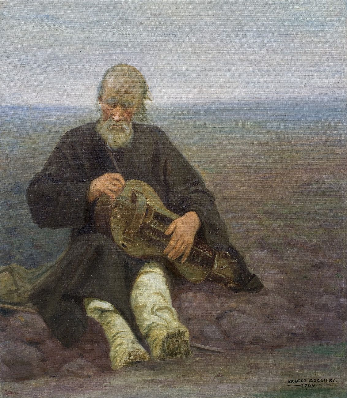 Модест Сосенко. Лірник, 1904; олія, полотно