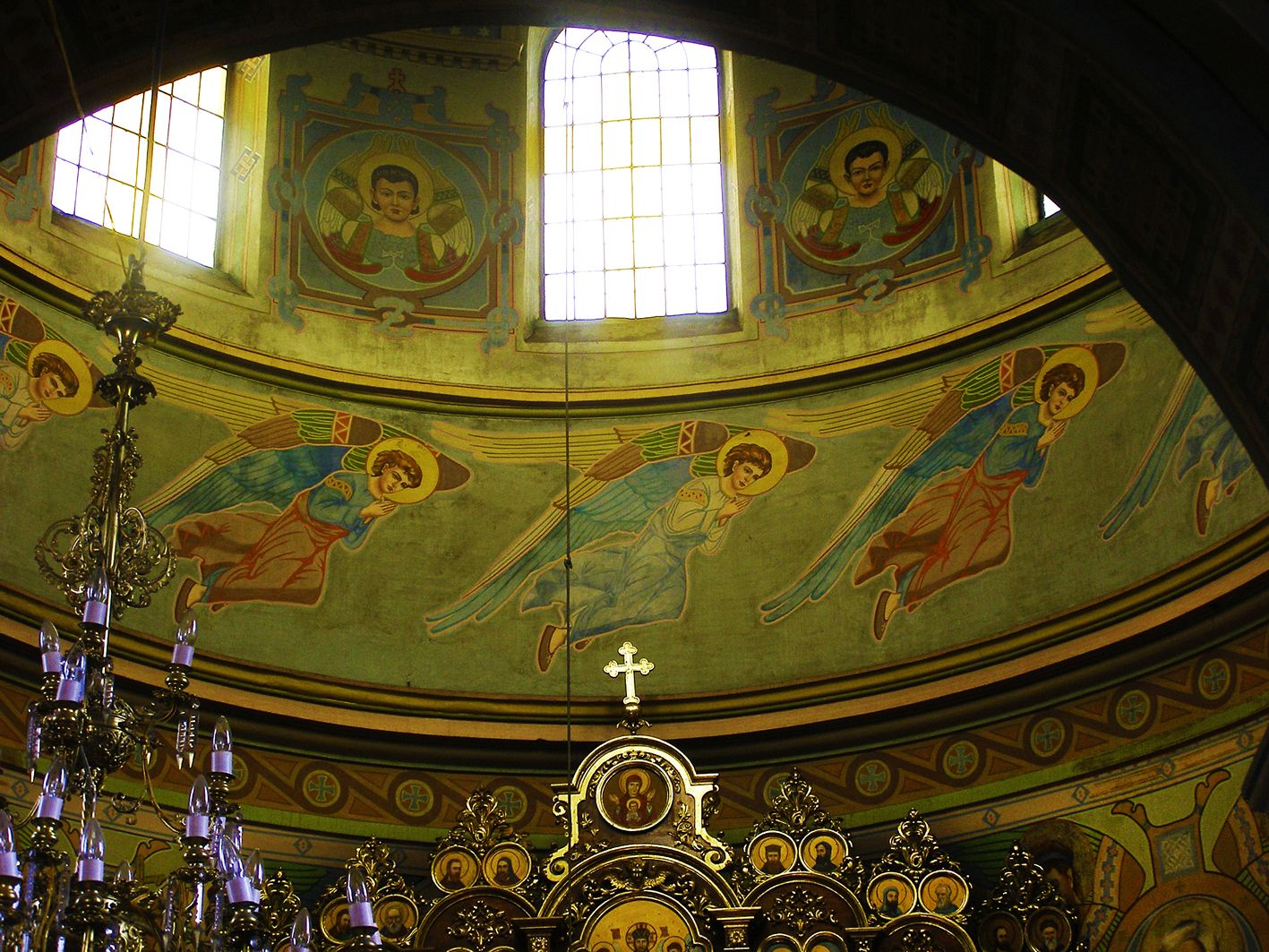 Модест Сосенко. Розписи церкви Успіння в Славсько, 1909-11