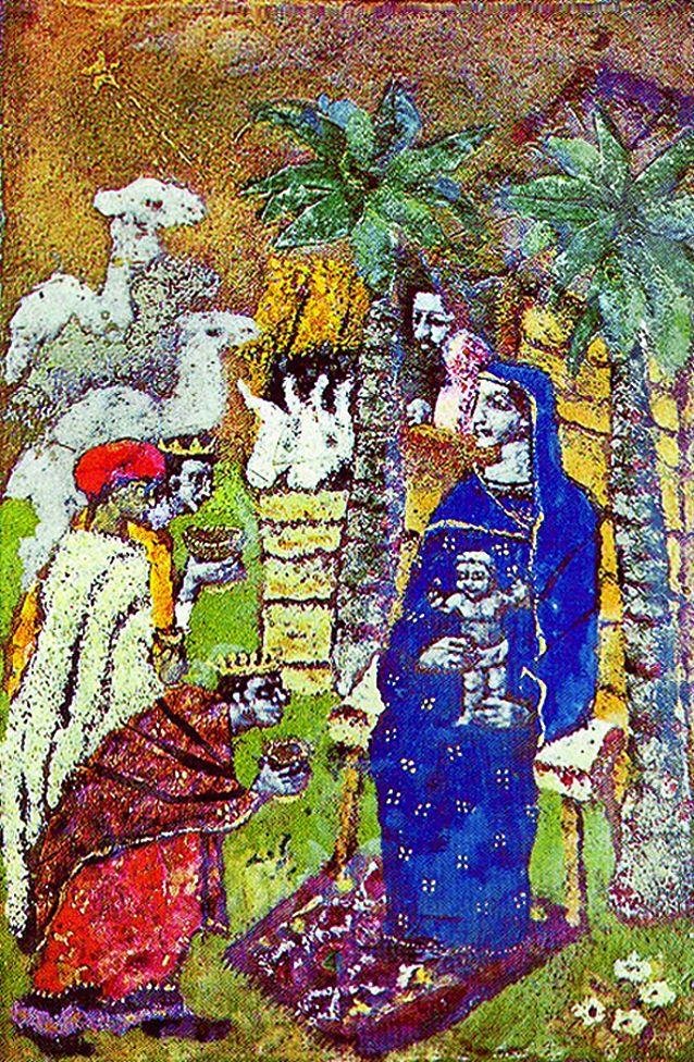 Марія Дольницька. Різдво, 1930. Перетинчаста емаль