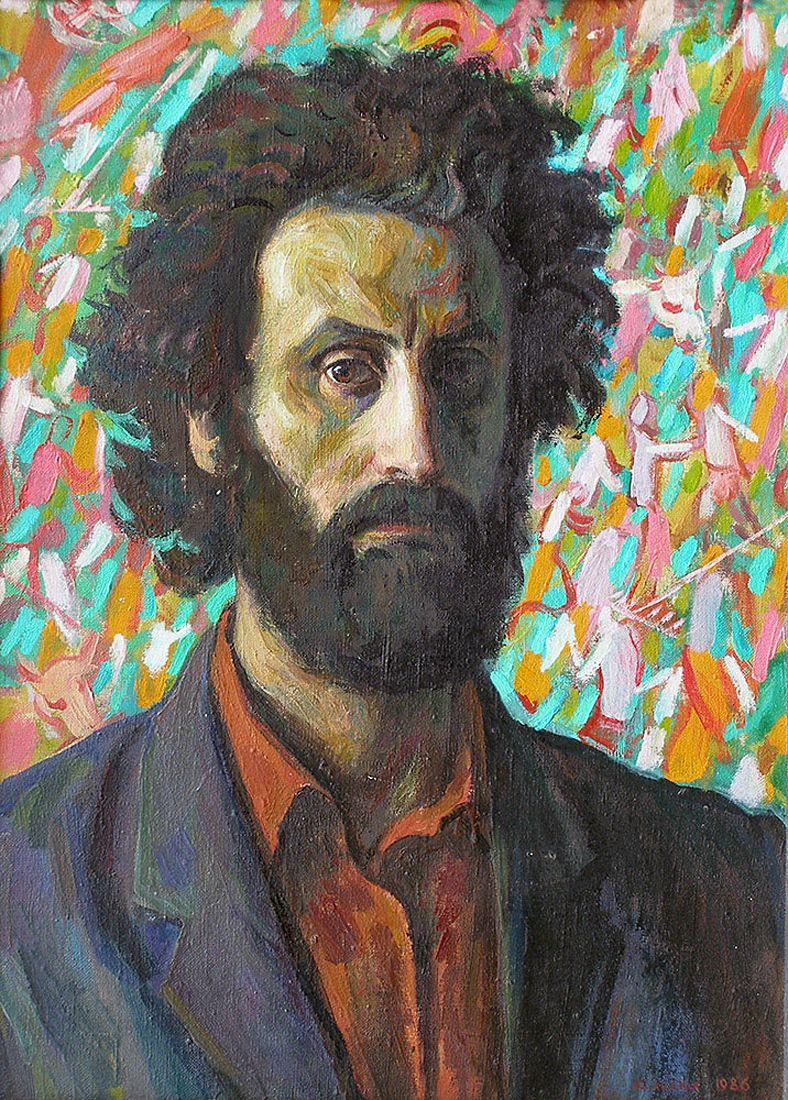 Юрій Лесюк. Автопортрет, 1986; полотно, олія; 70-50