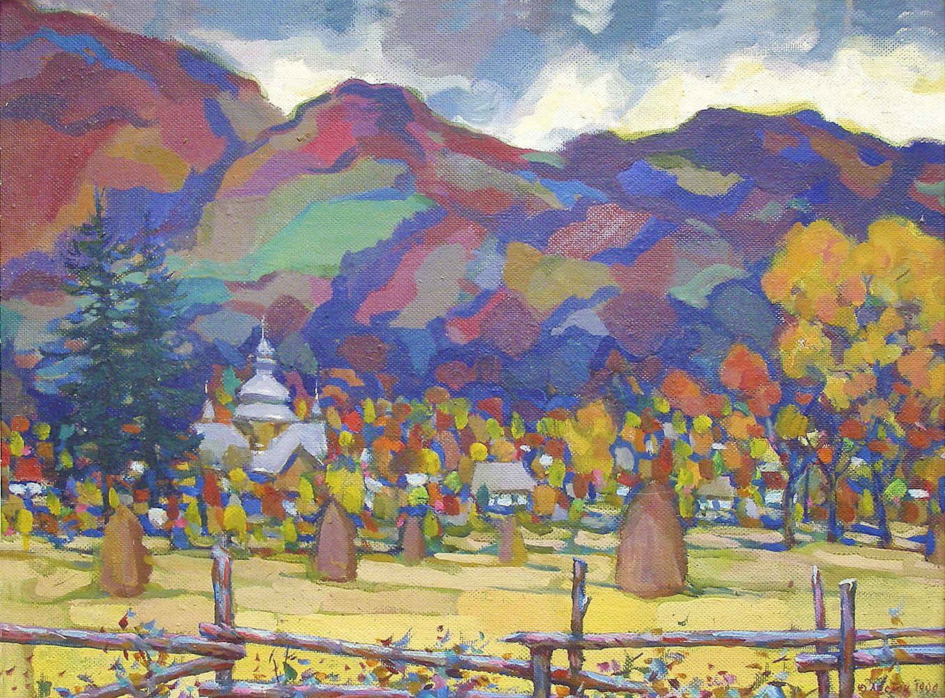 Юрій Лесюк. Осіннє золото, 1999; полотно, олія; 51-67