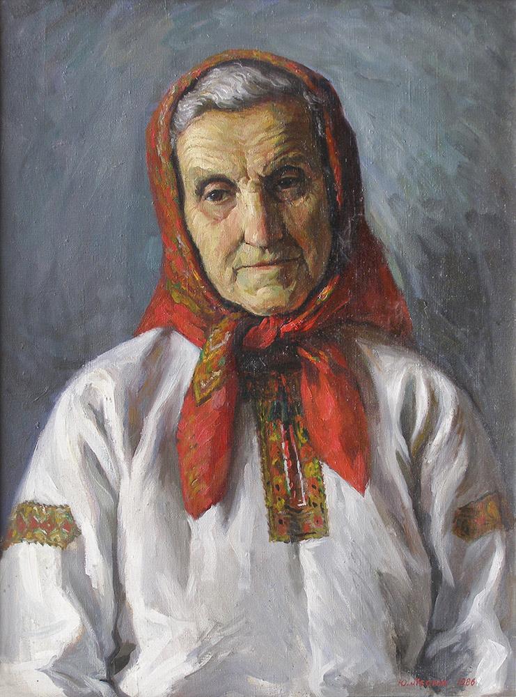 Юрій Лесюк. Портрет матері, 1986; полотно, олія; 80-60