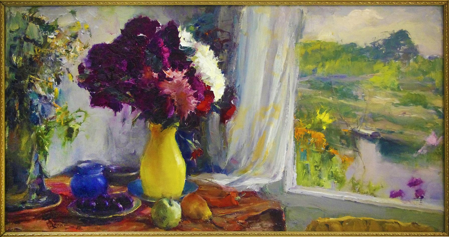 Михайло Добронравов. Айстри, 1973; полотно, олія