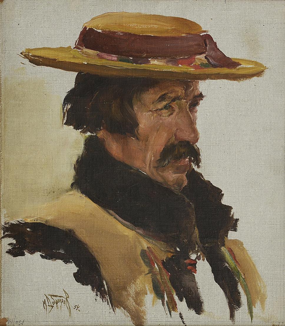 Михайло Добронравов. Гуцул, 1954; полотно, олія