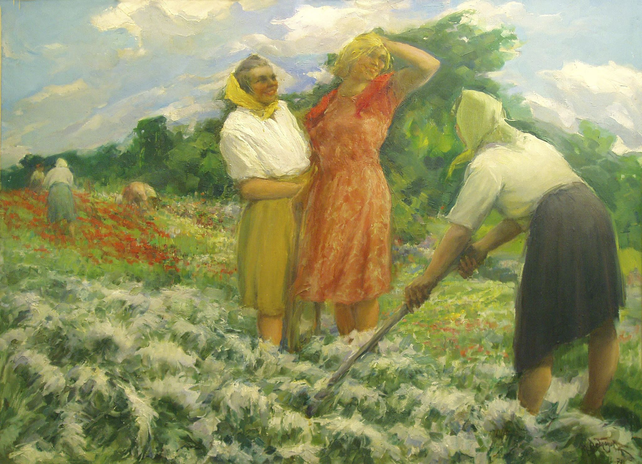 Михайло Добронравов. Робота в полі, 1975; полотно, олія