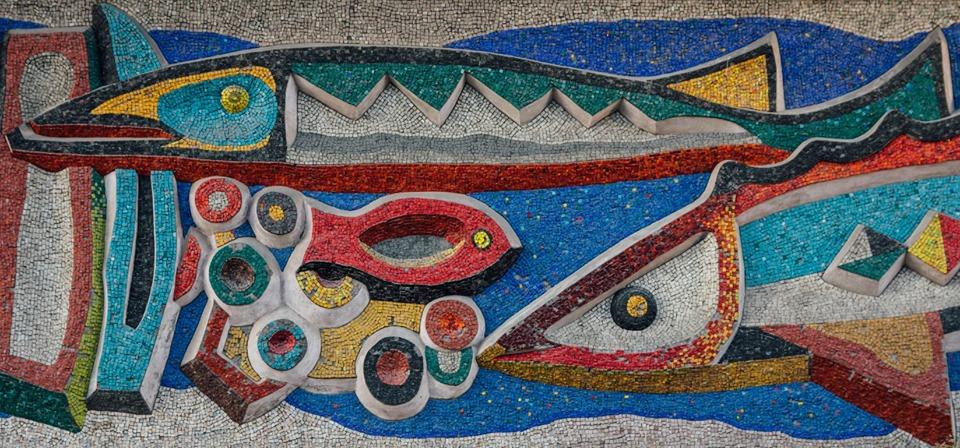 "Фрагмент мозаїки ""Океан"". Автор фото:  Дмитро Соловйов"