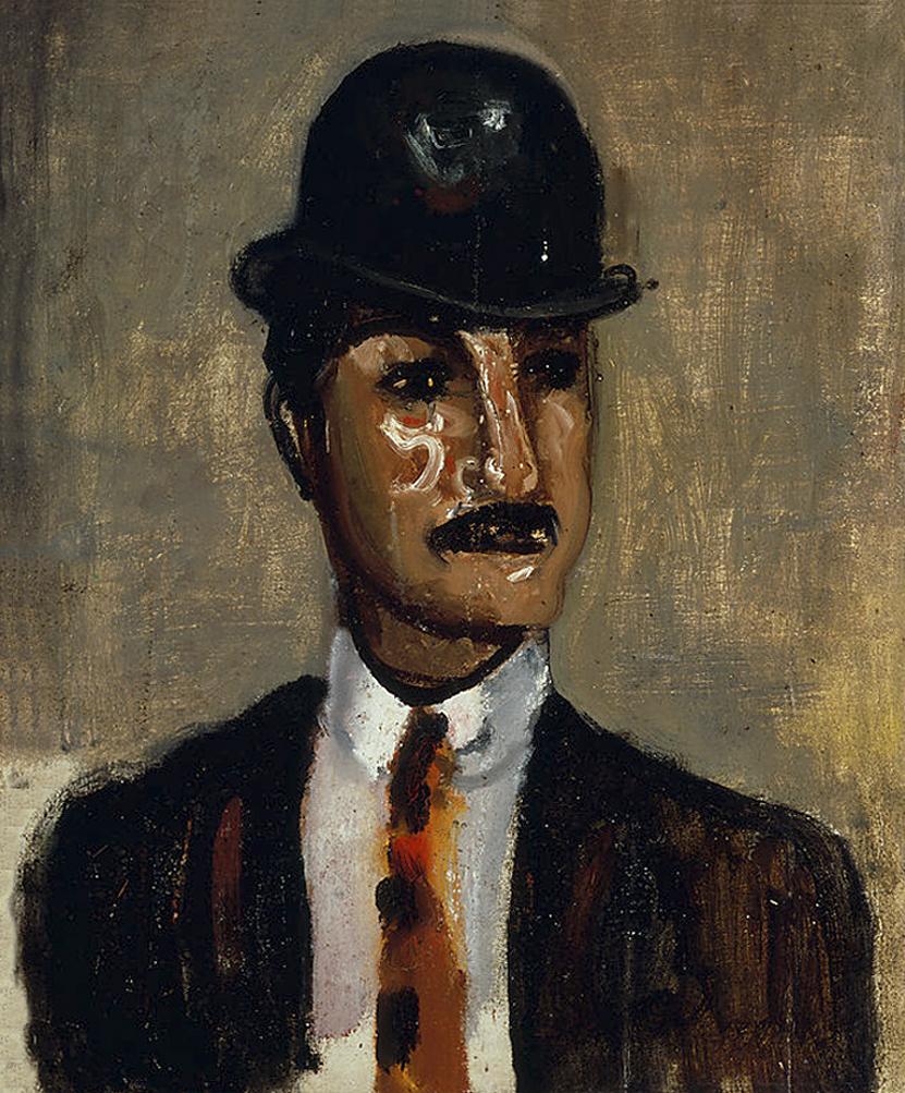 Артур Нахт-Самборський. Чоловік в капелюсі, 1923; олія, полотно; NMW