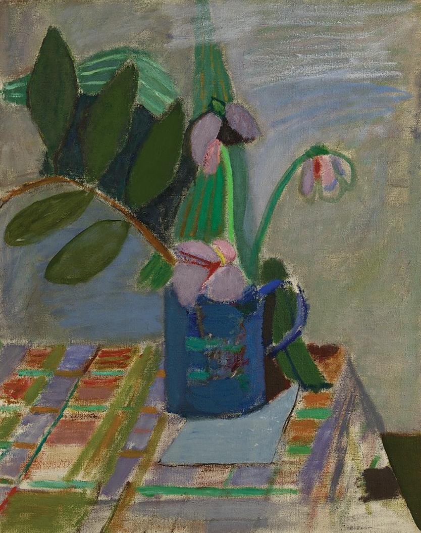 Артур Нахт-Самборський. Орхідея в синій банці, 1947; олія, полотно; NMP