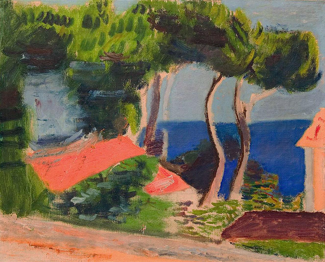 Артур Нахт-Самборський. Пейзаж над водою, 1930-ті; олія, полотно