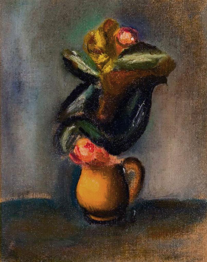 Артур Нахт-Самборський. Ваза з квітами 1925; олія, полотно; NMP