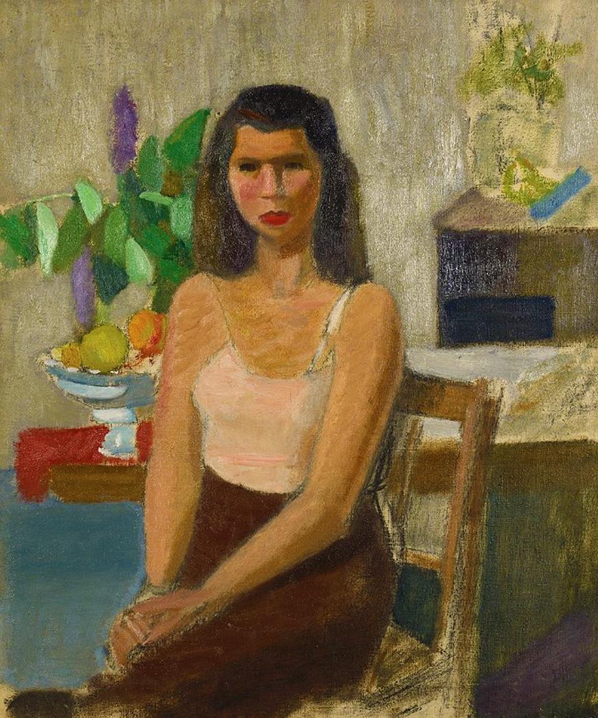 Артур Нахт-Самборський. Жінка в спідниці, 1945; олія, полотно; NMP