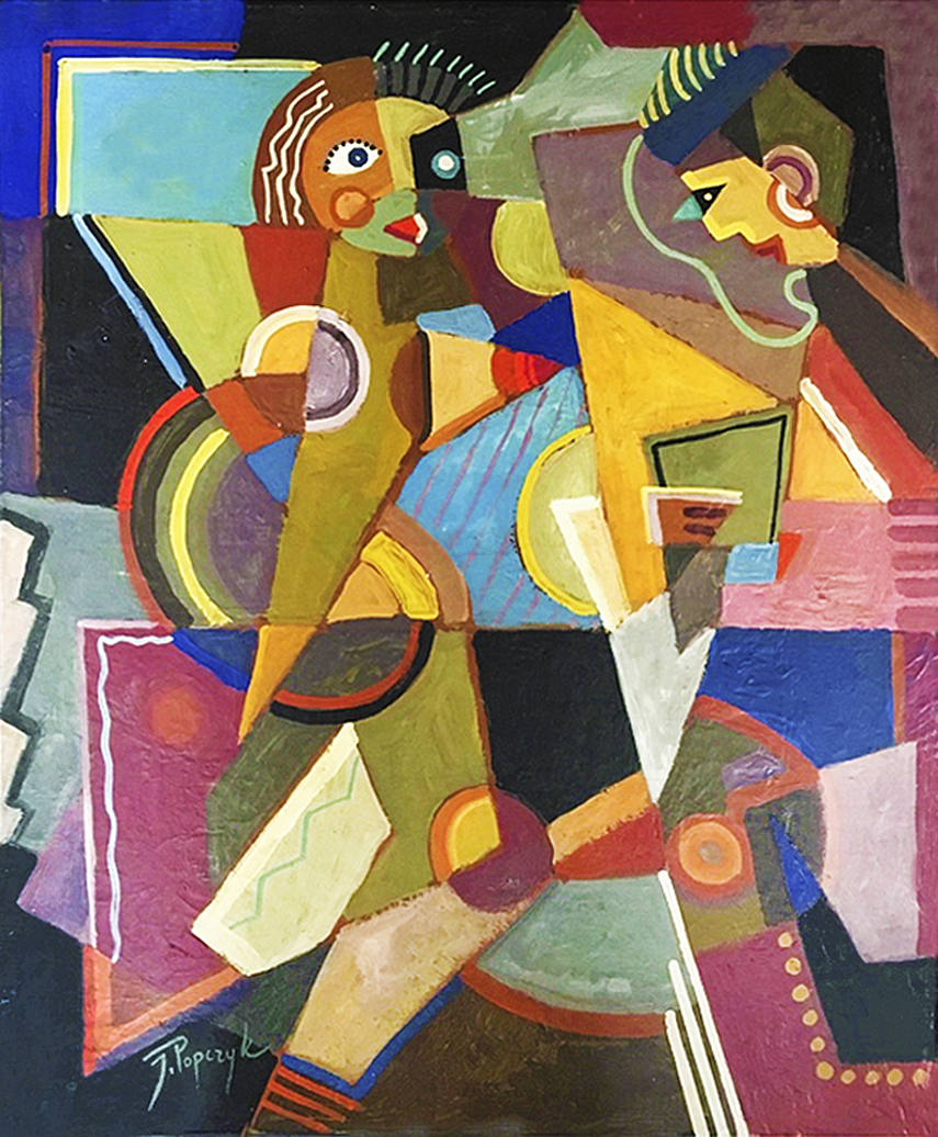 Юзеф Попчик. Розмова вдвох, 1935; олія, полотно