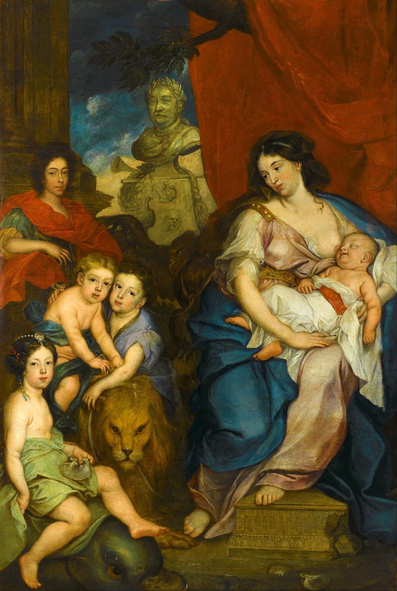 Єжи Шимонович. Королева Марія з дітьми, 1684; полотно, олія; Вілянув