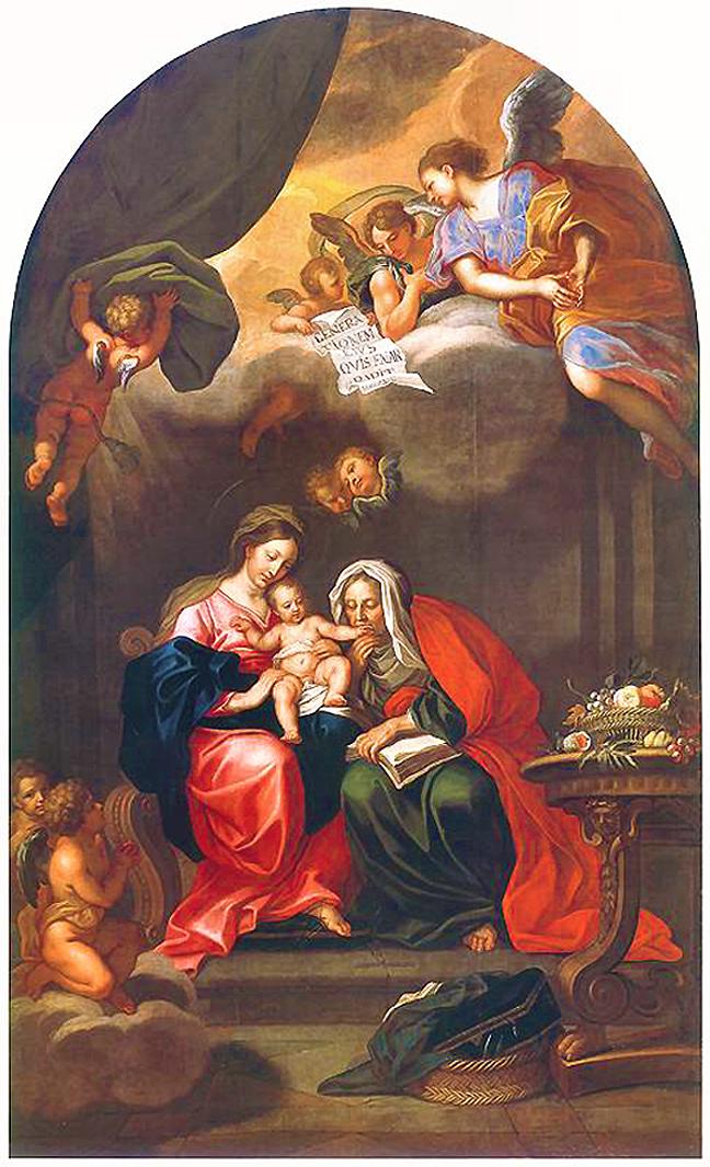 Єжи Шимонович. Мадонна з немовлям і свята Анна, 1700; полотно, олія; Краків