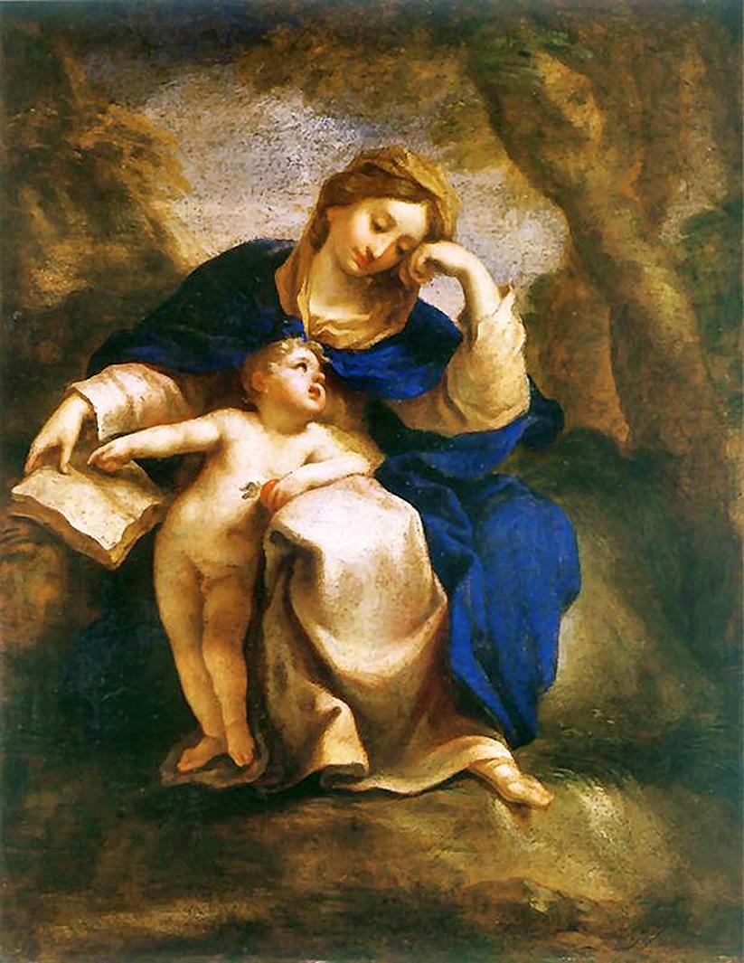 Єжи Шимонович. Мадонна з немовлям, 1685; полотно, олія; NMWr