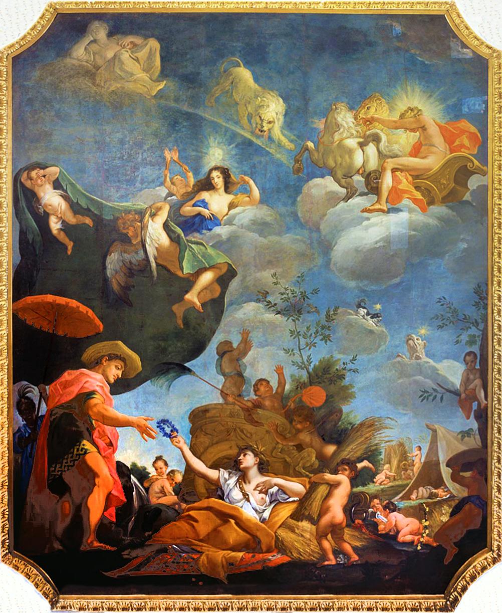 Єжи Шимонович. Плафон Літо, 1689; полотно, олія; Вілянув