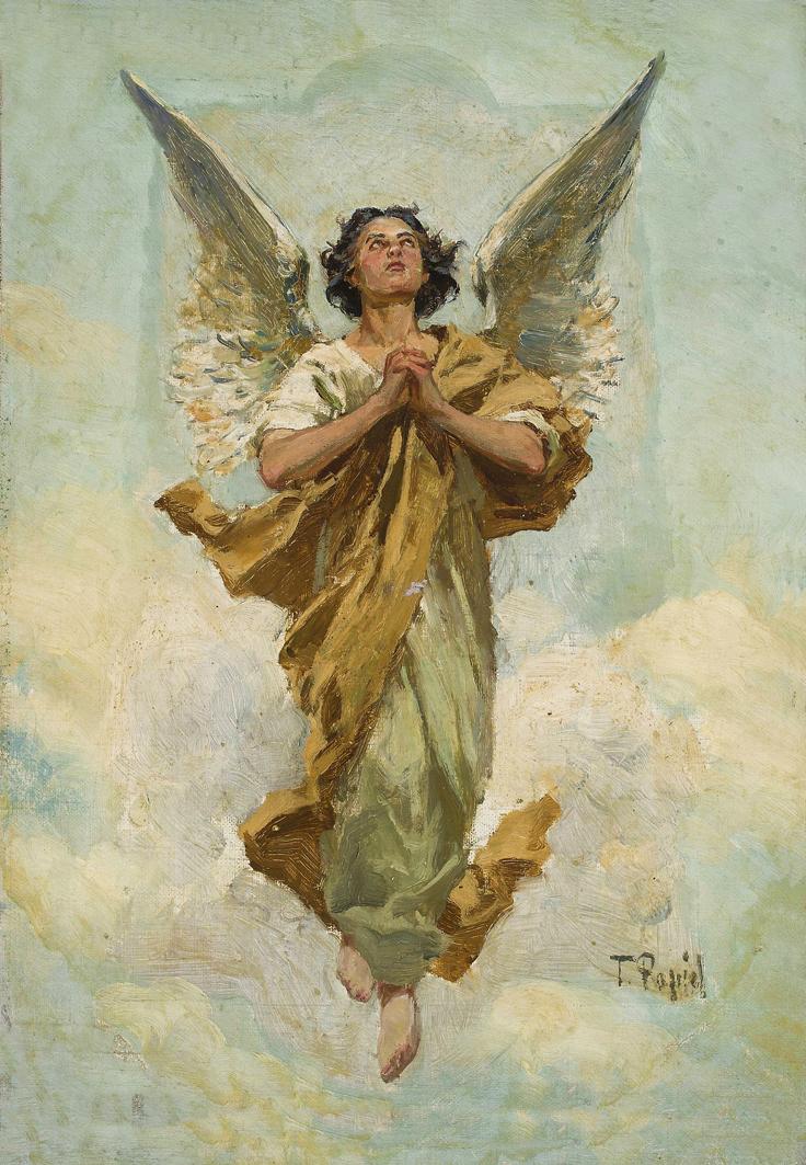 Тадеуш Попель. Ангел, 1890-ті; олія, полотно; NMW