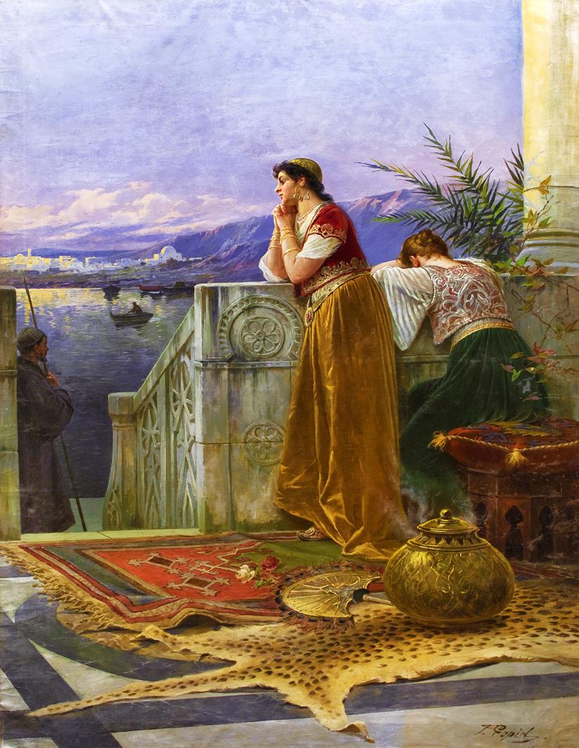 Тадеуш Попель. Невільниця над Босфором, 1897; олія, полотно; ЛНГМ