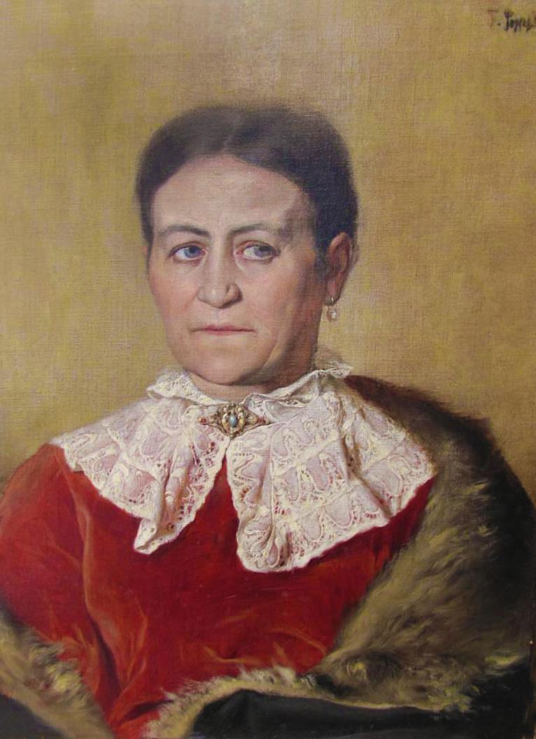 Тадеуш Попель. Портрет матері