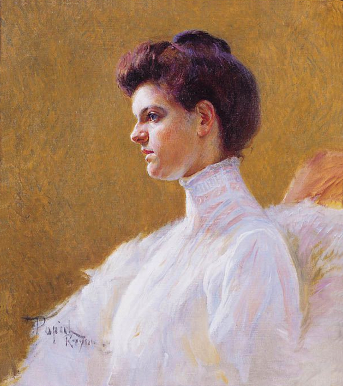 Тадеуш Попель. Портрет молодої жінки; 1900; олія, полотно