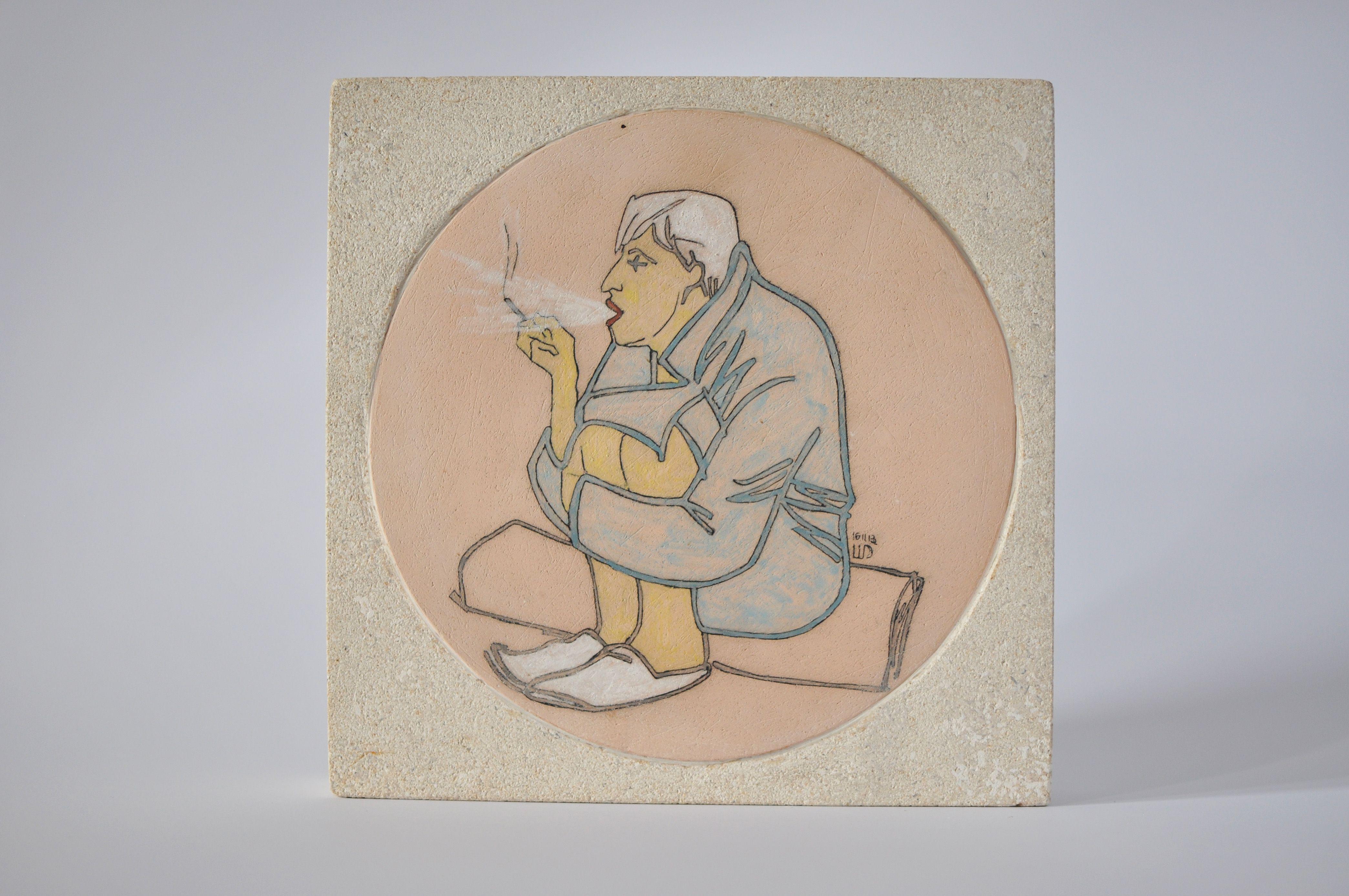 Денис Шиманський. БУМ курить, 2013; кераміка, вапняк