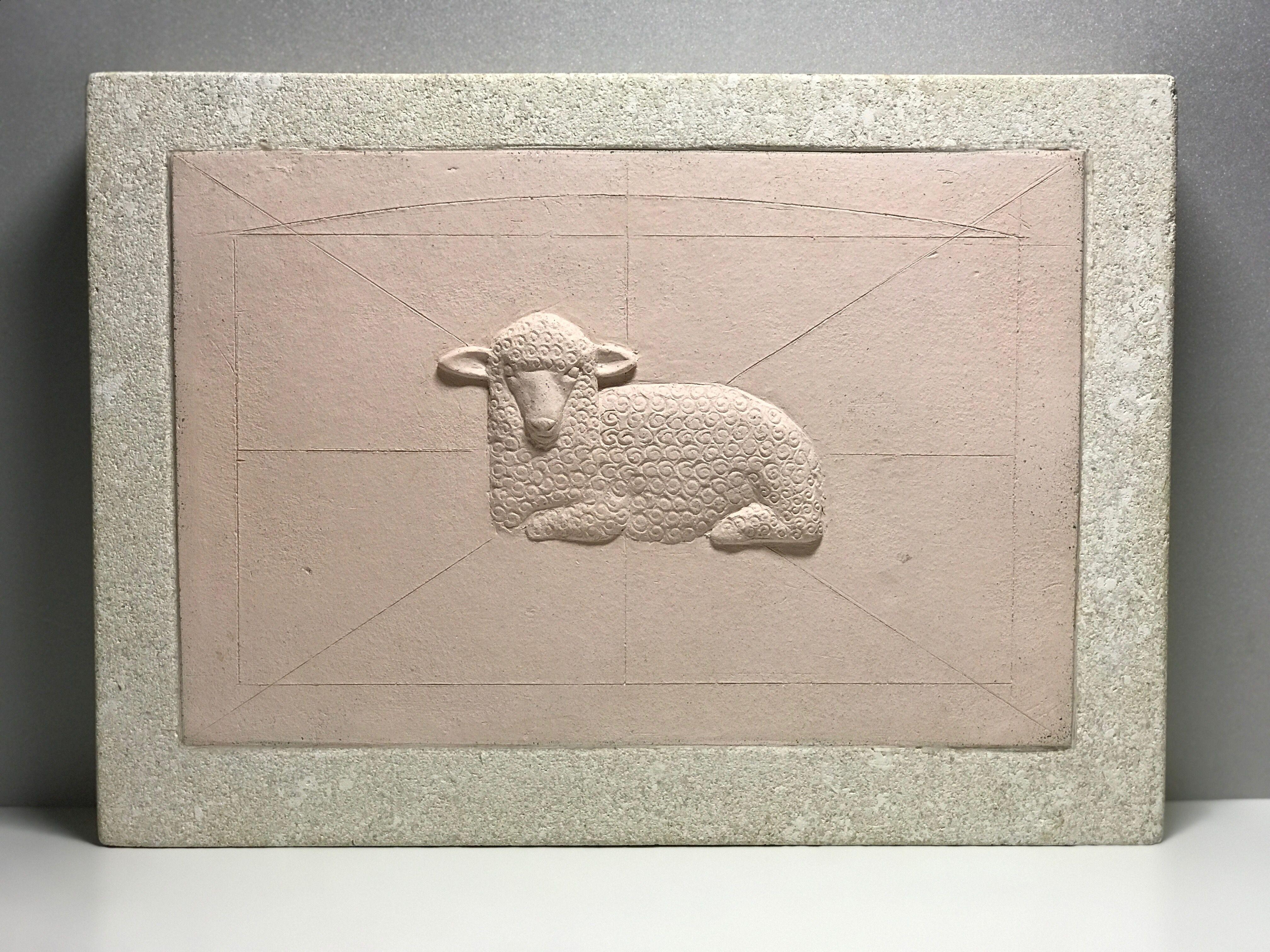 Деис Шиманський. Овечка, 2014; кераміка (шамот), вапняк