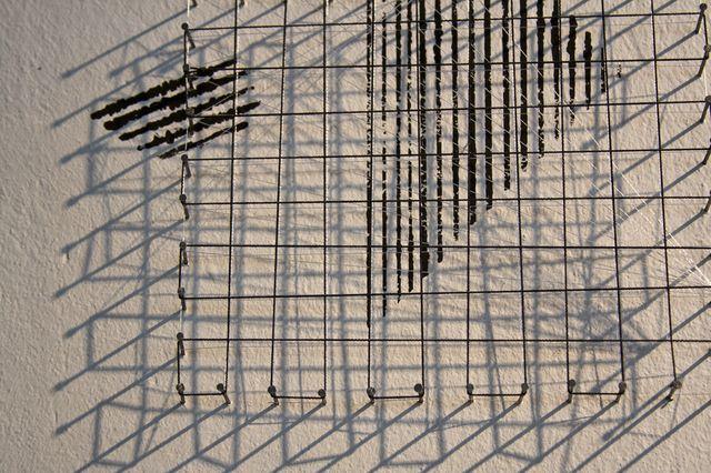 Тереза Барабаш. «Інший простір», об'єкт, цвяхи, жилка, акрил, 2012