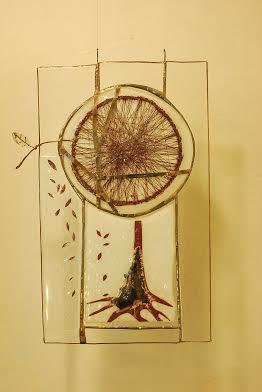 Роксолана Худоба. Кругле дерево, 2014. Скло, вітраж.