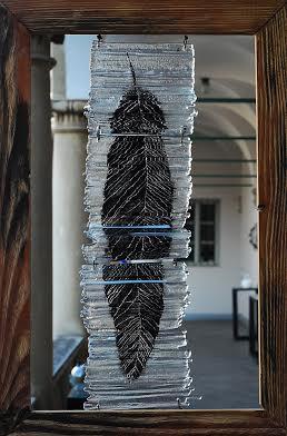 Роксолана Худоба. Листок, 2011. Скло, фьюзінг, розпис.