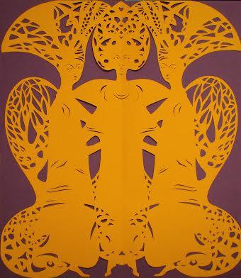 Дарія Альошкіна. Три панни, 2010. Витинанка