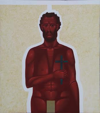 Данило Мовчан. Червоне тіло, 2009. Дошка, левкас, жовткова темпера, золото